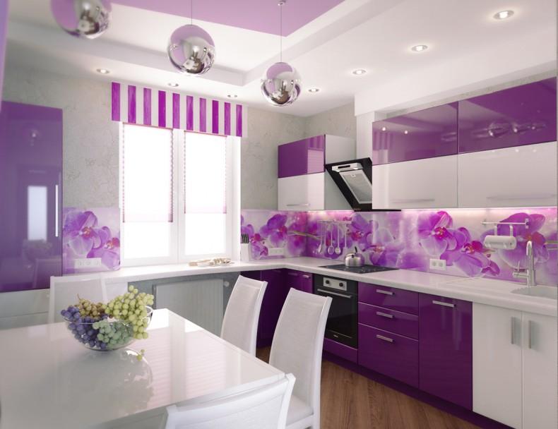 фиолето-фиалковая кухня