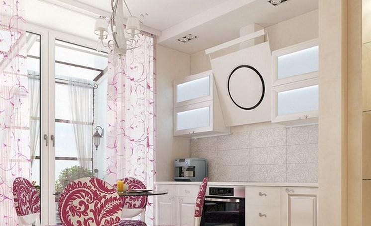 Окна кухни в парижском стиле