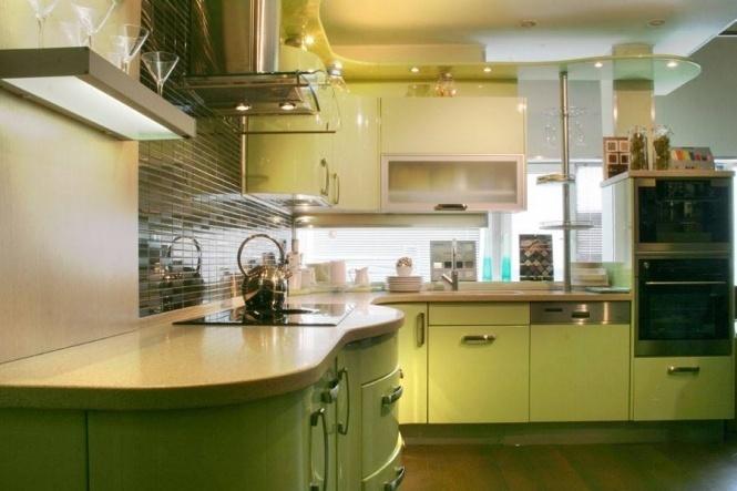 Кухня цвет фисташковый