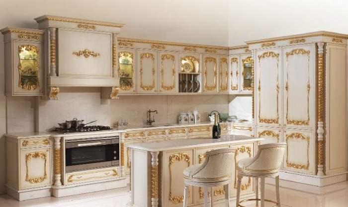 Кухонная мебель в стиле барокко