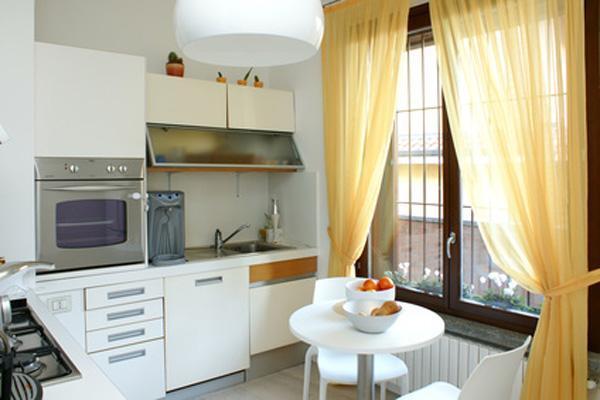 Кухонные занавески до пола своими руками