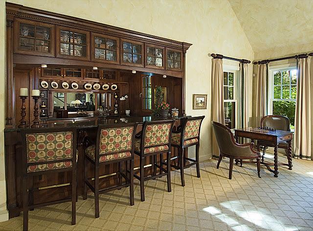 дизайн кухни в стиле паба
