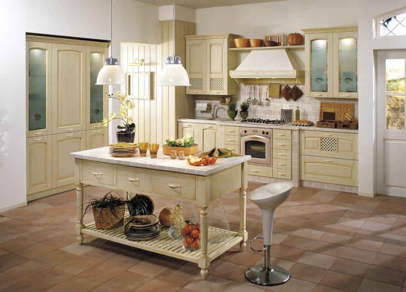 Мебель в греческой кухне