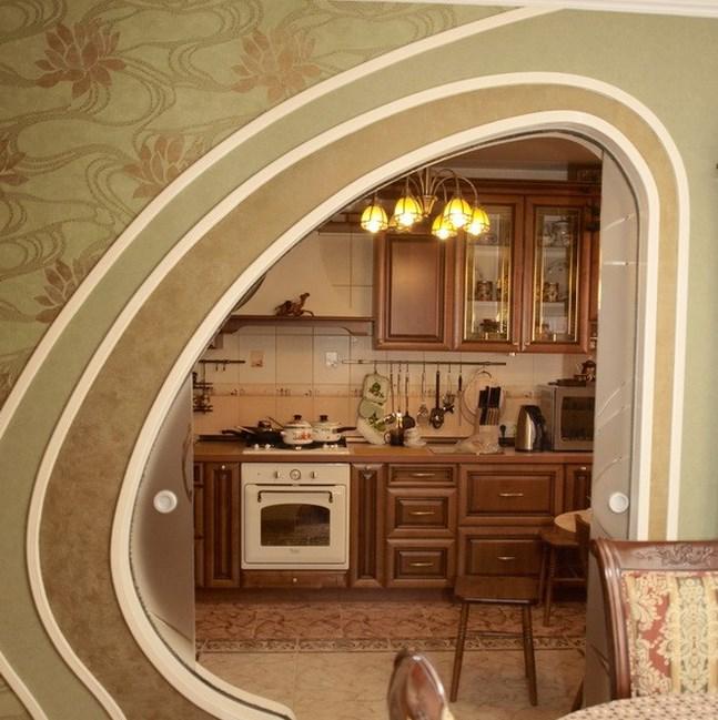 Оформление арки на кухню