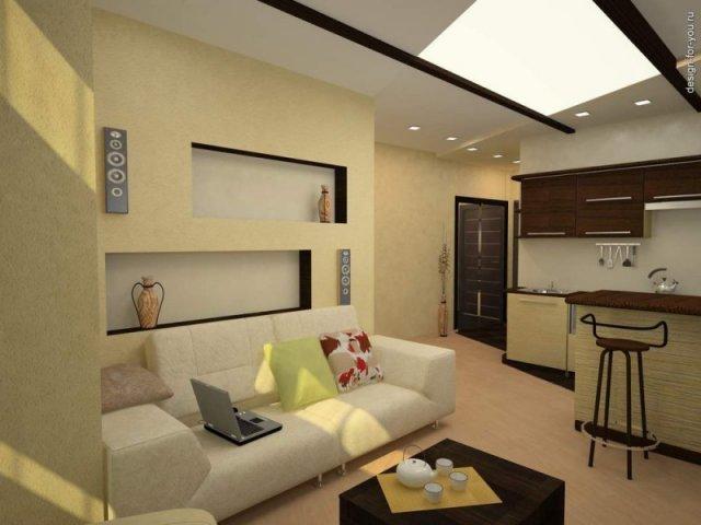 Отделяем кухню в квартире-студии визуально