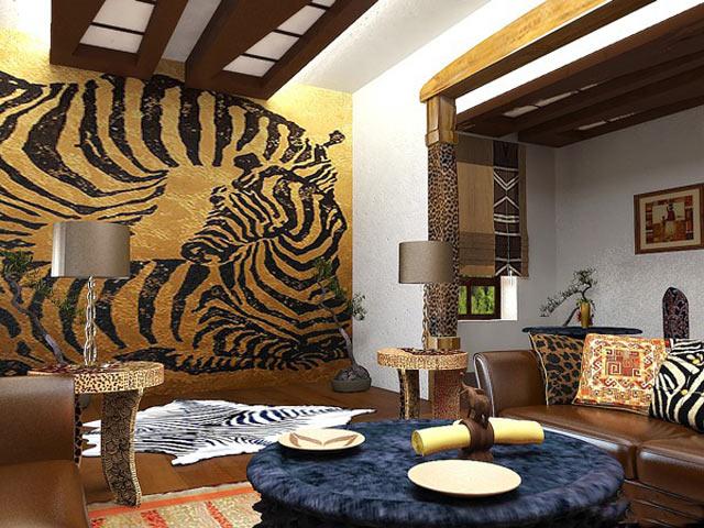 Обстановка кухни в африканском стиле