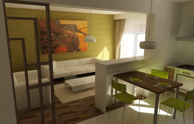Разделение кухни и гостиной фото