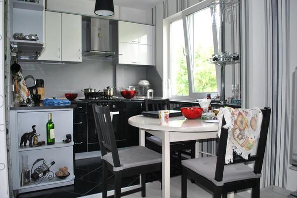 снос стены между кухней и гостиной