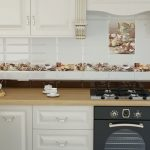 Как уложить плитку на кухне фартук