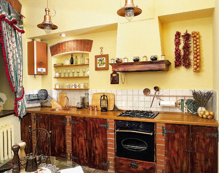 деревенскй стиль кухни