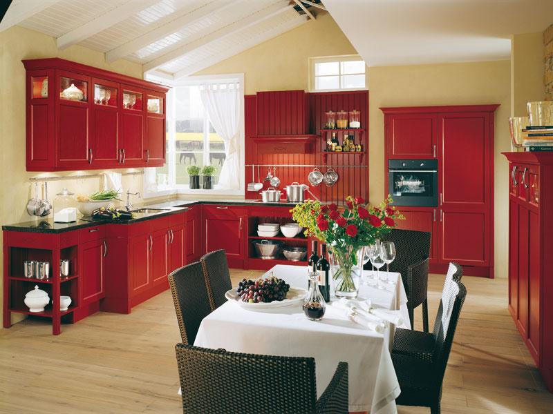 Дизайн в красном стиле