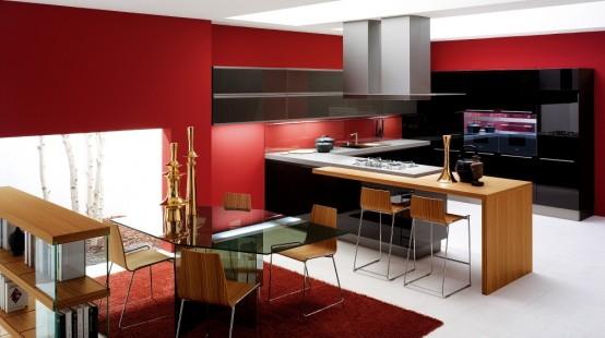зоны в большой кухне
