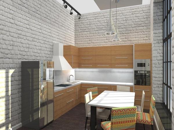 Стиль лофт для зонирования вашей кухни