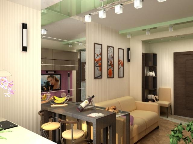 Световые визуальные решения для кухни-студии