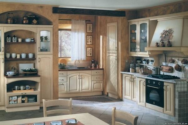 встроенный шкаф в интерьере кухни