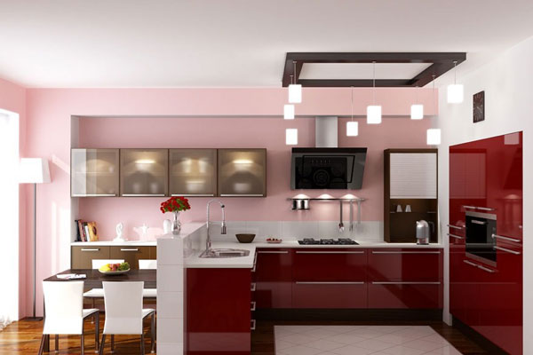 Варианты планировки на Г-образной кухне