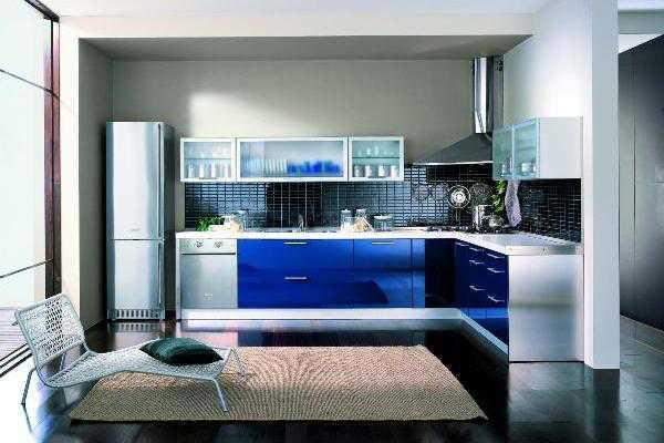 Варианты компоновок Г-образных кухонь