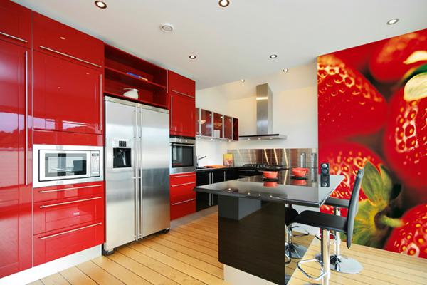 Приятные мелочи в красной кухне