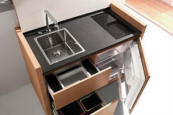 Многофункциональная мебель - отличное решение для маленькой кухни