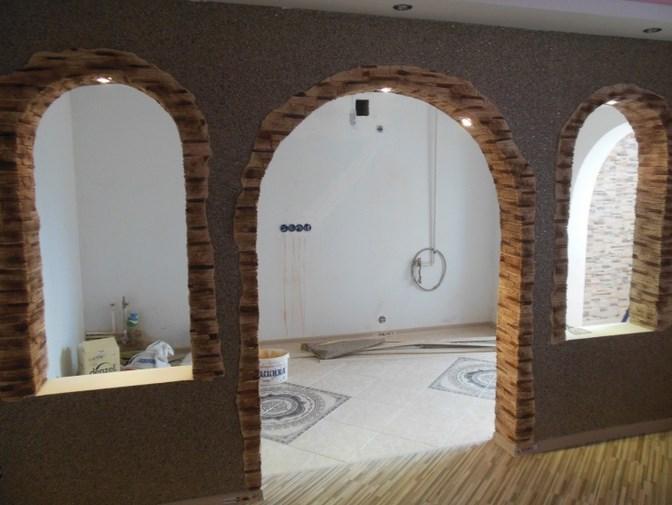 Подготовка материалов для арки