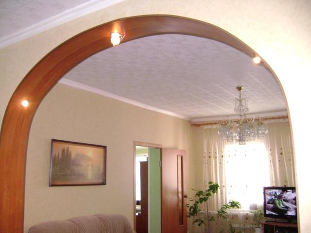 Дизайн арки в комнату