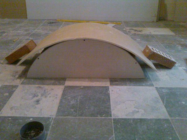 Этапы возведения арки