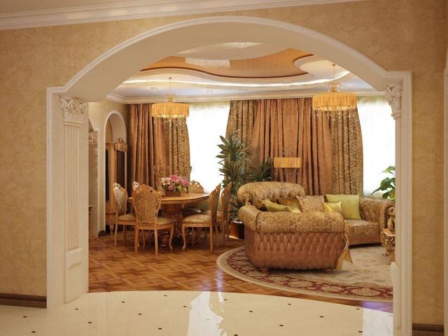 Богатая арка в зал