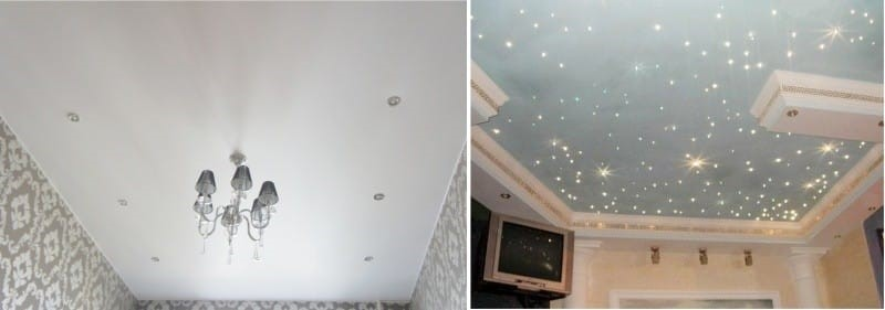 Идеальный способ отделки потолка в кухне - натяжные потолки