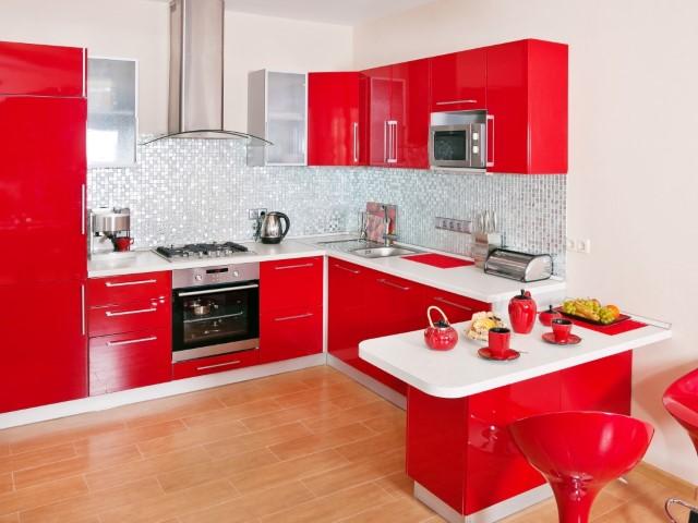 гарнитур в интерьере кухни