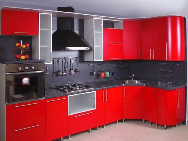 гарнитур красный с черным