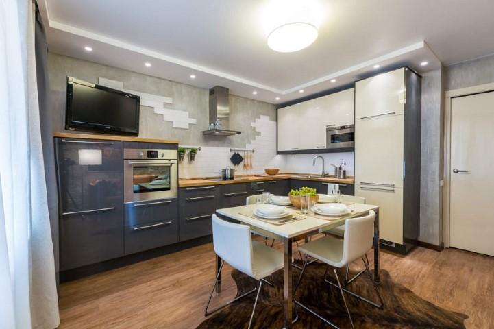 интерьер кухни 13 кв м