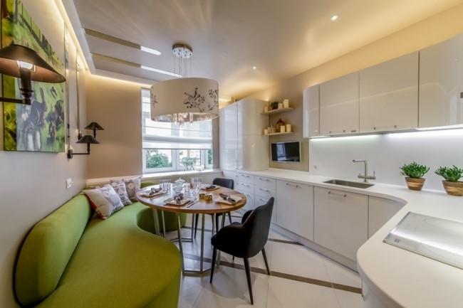 Дизайн кухни 13 кв м с лоджией 190