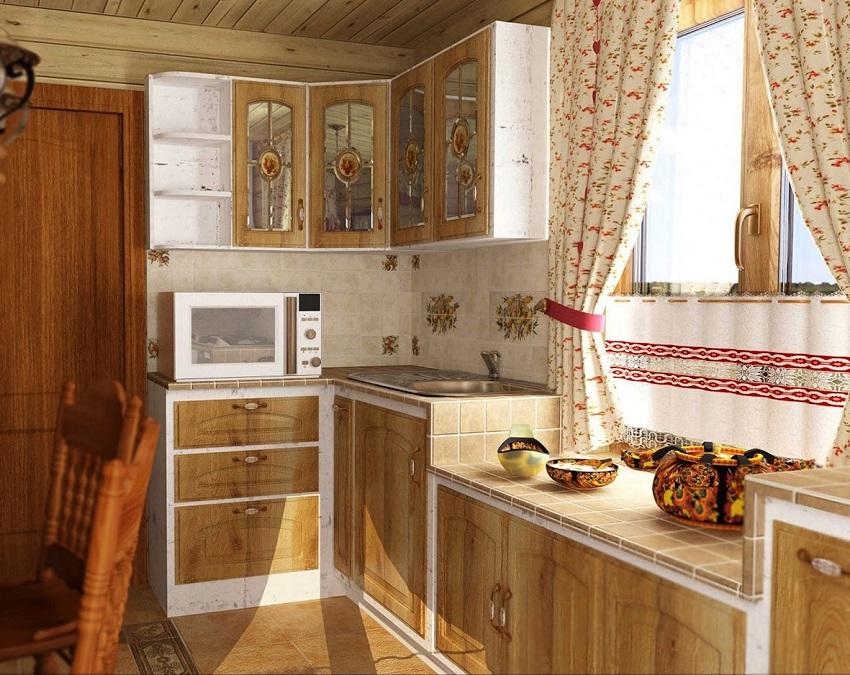 Стиль Кантри в интерьере кухни (41 фото дизайн)