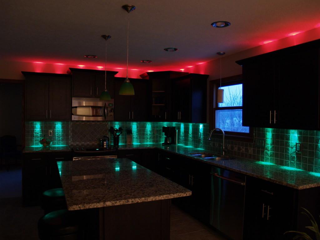 Светодиодное освещение на кухне 10