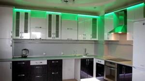 Светодиодное освещение на кухне