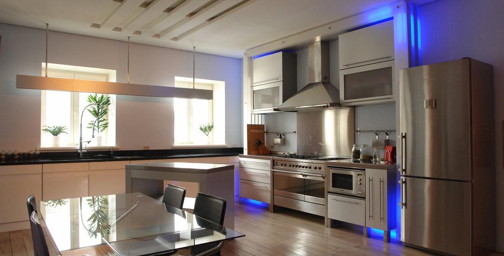 Светодиодное освещение на кухне 9