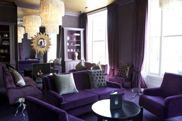 Фиолетовый стиль в интерьере