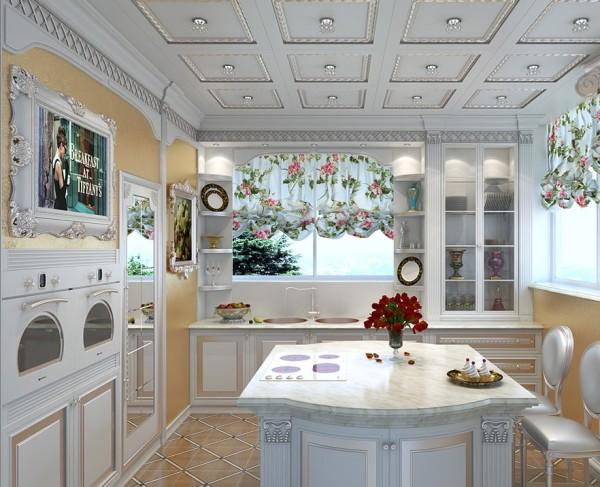Кухня в античном стиле