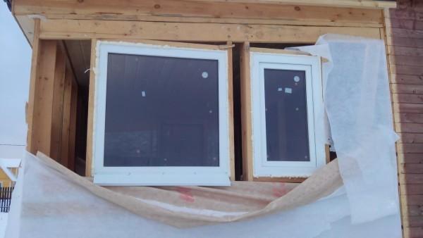 Окна в каркасном доме. Установка и монтаж