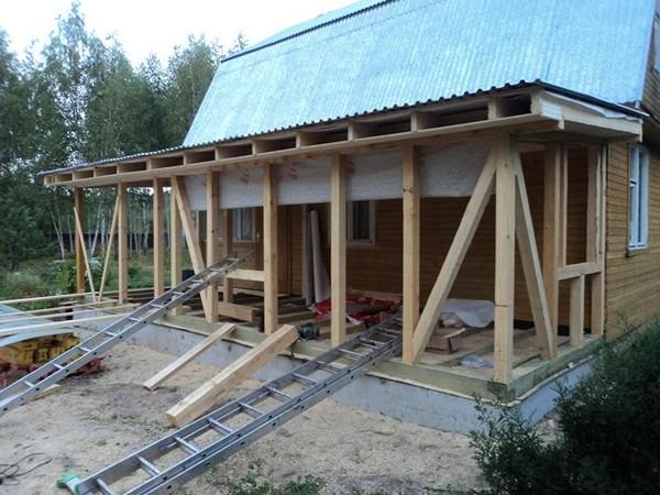Этапы строительства террасы