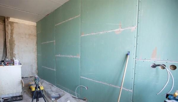 Гипсокартон - выравнивание стен