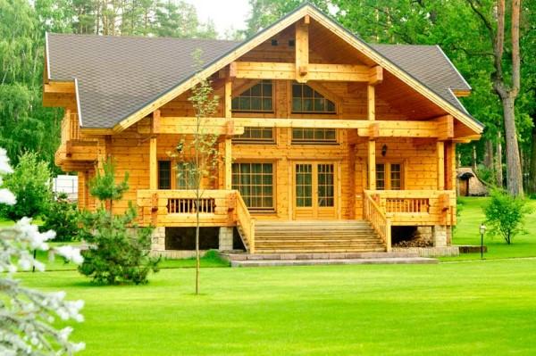 Дом, который построен из бруса