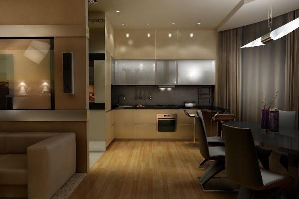 Как разделить большую кухню – идеи зонирования