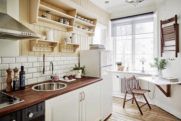 Скандинавский стиль в интерьере кухни – просторный уют