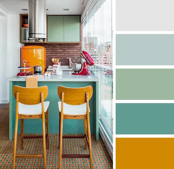 Цветовое решение для создания уюта на кухне