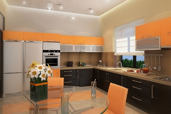 Персиковый цвет в интерьере кухни – как создать гармонию и уют