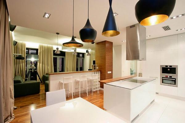 Как создается кухня-студия в современном стиле