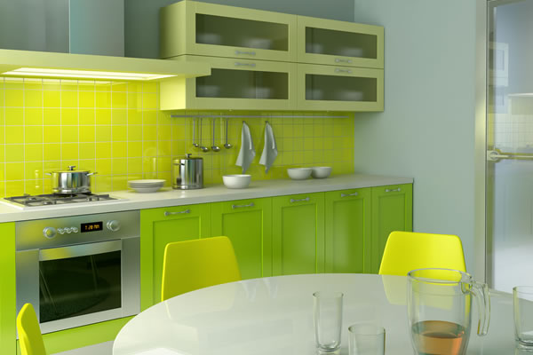 Комфортная кухня зеленая с белым – как ее создать?
