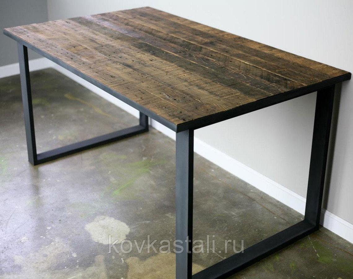 стол в стиле лофт