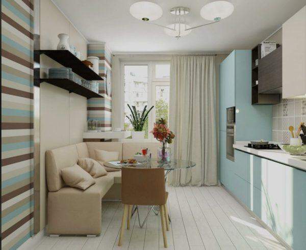 Кухня с угловым кухонным диванчиком